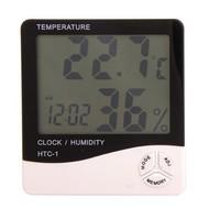 Digital LCD Temperature and Humidity Meter Clock Alarm