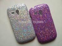 Luxury Shiny Diamond Plating Hard Back Case Cover Glitter Case Cover for Samsung I8190 Galaxy S3 mini Free Shipping 10pcs/lot