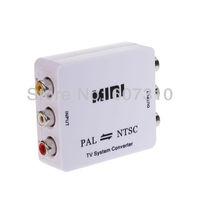 New PAL/NTSC/SECAM to PDP/PAL/NTSC Mini Bi-directional TV System Converter US & EU Plug (White) Free Shipping M616
