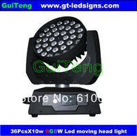 2013 New Fancy Design Triangle 36pcs*10W 4in1 Zoom RGBA/RGBW LED Moving Head Light,Stage Moving Head Light