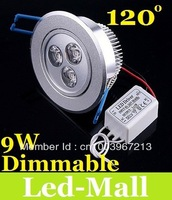 Warm White Dimmable 9W Led Recessed Downlight 120 Angle Energy Saving Led Down Light 110V 240V Replace 45W Halogen Lamp
