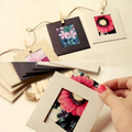 20bags/lot Paper photo frame hemp rope clip combination photos wall 6