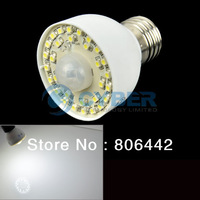 E27 30-LED 2.5W Motion Sensor Cold White Light Lamp Bulb AC85-260V 3528SMD Free Shipping 4691