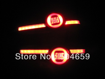 2x FIAT logo Car Signal Corner Cool LED Turn Steering Indicator Light  with control gear