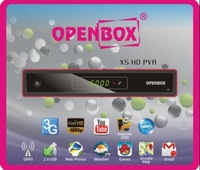 20pcs/lot  Original  OPENBOX X5 hd  Support Youtube,CCcam,Newcamd,MGcam  satellite receiver free shipping