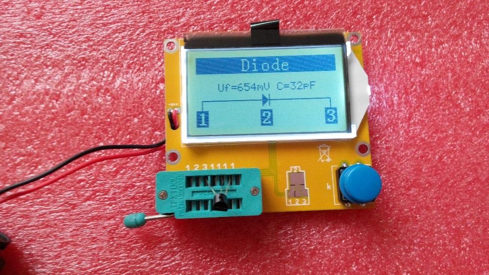 Free shipping, 2014 Newest  Transistor Tester Capacitor ESR Inductance Resistor Meter NPN PNP Mosfet