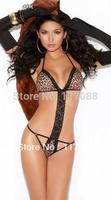 Free Shipping ML6006 Sexy Womens Halter Leopard Teddy Underwear design Sexy lingerie teddy