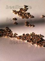 free shipping 2012 fashion ABS 6MM rose gold spike studs rivet beaded hand sewing on nailhead DIY jewelry accessories 500pcs/lot