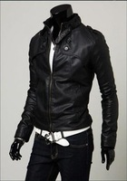 Men's Slim Top Designed Sexy PU Leather Short Jacket Coat 3 Colors XS S M  L