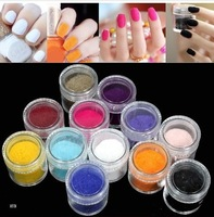 10 sets Hot Sale 24 Color Velvet Flocking Powder For Velvet Manicure Nail Art Polish set for nails decorations