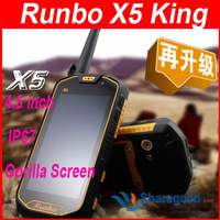 "Original Runbo X5 King phone IP67 Dustproof  Waterproof Outdoor Smartphone 4.5""  MTK6577 Dual Core"