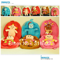 I4 Hot sale in the night garden series baby backpack plush schoolbag baby toy1 pc