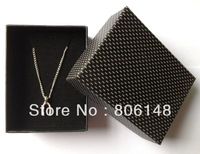 Wholesale 8.5*6.5*3.3cm 20pcs/lot jewelry necklace packaging box,Free shipping paper card board gift necklace box