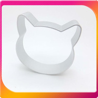 (Free Shipping CPAM) 10PCS/Lot Aluminum Cartoon cat head Cake Cookie Cheese Biscuit Cute Cutter Mold Mould LOWEST PRICE