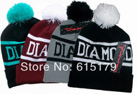 Hip-Hop Unisex DIAMOND SUPPLY CO Beanies Wen's Women's Winter knit Cotton wool Hats Snapback caps 1pcs/lot