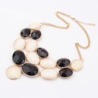 MLN004 Wholesale Women acrylic gold geometry choker statement necklace collier colares bijuterias