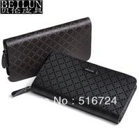 Long design male wallet men's wallet male day clutch zipper bag clutch male 8140