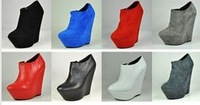 wedge high heels woman ankle boots name brand gladiator boots hot sale