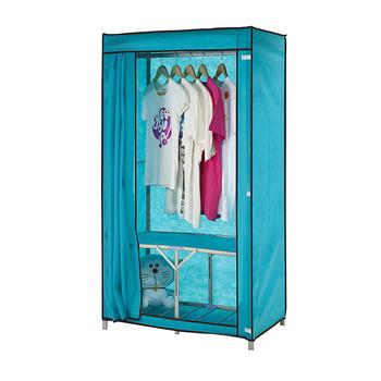 Clothes Closet Wardrobe Armoire Storage Organizer Clothespress Space Saver Cabinets Cupboard Cloth Wardrobe Steel pipe wardrobe