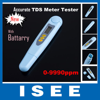 Christmas New LCD Digital TDS Meter Tester Water Quality ppm Purity Filter Wide Range 9990 ppm,TDS/Temp/ppm/Tester Free ship