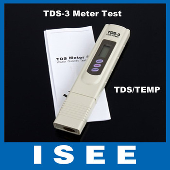 Big sale  5pcs/lot NEW Digital TDS/TEMP TDS-3 Meter Tester Filter Water Quality Purity Free shipping