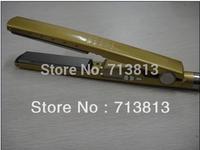 GOLD Hair Straightener Pro Nano Titanium ceramic heaters hair straightening iron 1 1/4'' Plate Width 450F BABNT2091T