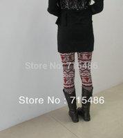 Newly Design Free shipping Warp-knitted Velvet Double Layers Leggings Winter Warm Leggings