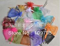 Free Shipping Colors Mixed 200PCS/LOT, 7X9CM Organza bag, drawstring bag, Pouch, jewelry bags