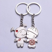 Min.order is $15 (mix order)  Romantic A couple  bride and groom  Creative novelty Gifts  key chain DZ1354