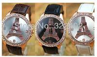 Hot-Selling Three-dimensional Eiffel Tower watch diamond High quality movement Free shipping DHL 40 pcs/lot
