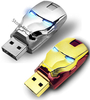2g 4g 8g 16g 32g metal iron man shape usb flash drive pen drive memory stick with LED light drop shipping free shipping