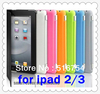 Hot Sale Colourful Slim Back Case Suits Smart Cover Partner for iPad 2 3 The New iPad DA0005