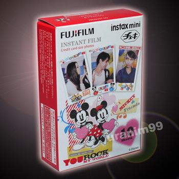 Fuji Fujifilm New Mickey Mouse & Friends Instax Mini Film ( 10 sheet photo ) for Polaroid Instant Camera 7s 8 25 50s 55i 90