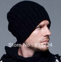 Free shipping, Autumn and winter hat men's plain bars pocket hat hip-hop   winter hiphop toe cap covering cap male knitted hat