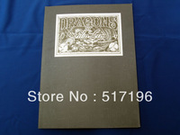 Wholesale Free Shipping  Dragons I by Filip Leu Japanese Tattoo Book in Bule Cover A4 New 28.5*21cm