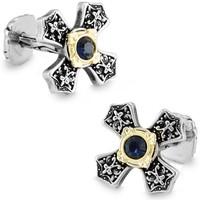 SPARTA Platinum Plated Celt cross Austria Crystal cufflinks men's Cuff Links + Free Shipping !!! gift metal buttons