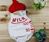 Summer/Autumn milk bottle style baby wear baby&#39;s romper,baby romper baby&#39;s set (hat+set) free shipping