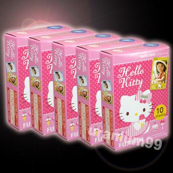 Fuji Fujifilm New Shiny Hello Kitty Instax Mini Film x 5 pack ( 50 sheet photo ) for Polaroid Instant Camera 7s 8 25 50s 55i 90