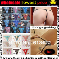Free Shipping Floral G-string Sexy Lingerie Women Panty Sexy Underwear Lady Thong  Intimate Wear T36,sexy g string  87021-2