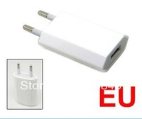 50% sales DHL Free shipping 100pcs  EU travel charger 5V 1000mA AC Power USB Wall Charger For iPhone 4 4S 3GS iPod EU Plug