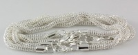 Wholesale 10pcs Silver Plated Snake Chain Bracelet Fit European Charm 20cm