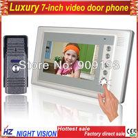 """7"""" video door phone LCD Monitor  Video DoorPhone Cmos Night Vision Camera video intercom system unlocking Video Door Bell"""