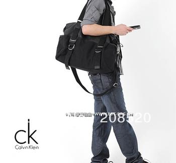 JJ225 Free shipping for casual leisure shoulder messenger bag/men canvas bag black brown