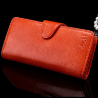 Wholesale/retail, high quality, Genuine leather purse women+women fashion long Purse/wallets+ladies leather bags Free shipping