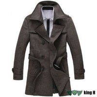 KTW149 Men's Winter Coat men's Large Size Big Jacket Long Coat winter warm windproof  outerwear