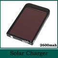Hot Saling 2600mAh Solar Charger Portable USB Solar Power Bank Charger For Mobile Phone MP3 MP4 PDA Free Shipping