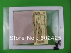 FREE SHIPPING iPad 2 White Compatible Front Panel Touch Glass Screen Digitizer Home Button Assembly(China (Mainland))