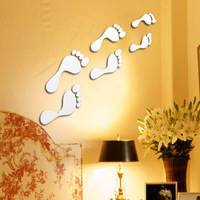 Diy home decoration simple fashion 3 crystal three-dimensional mirror wall stickers mirror festival gift