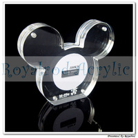 free shipping 5pcs/lot acrylic clear magnet photo frame Mickey series latest design by Royalrod