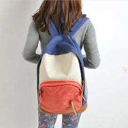 school bags for teenagers Korean version Fashion college Canvas Backpack travel Shoulder Bag drop shipping Free shipping W1289(China (Mainland))